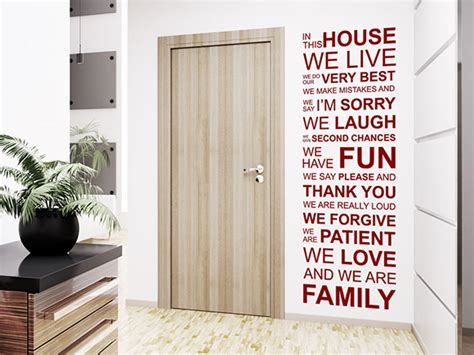 the house we live in wandtattoo in this house we live we do our very best we make mistakes
