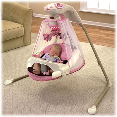 fisher price baby girl swing fisher price baby girl s butterfly cradle n swing chair