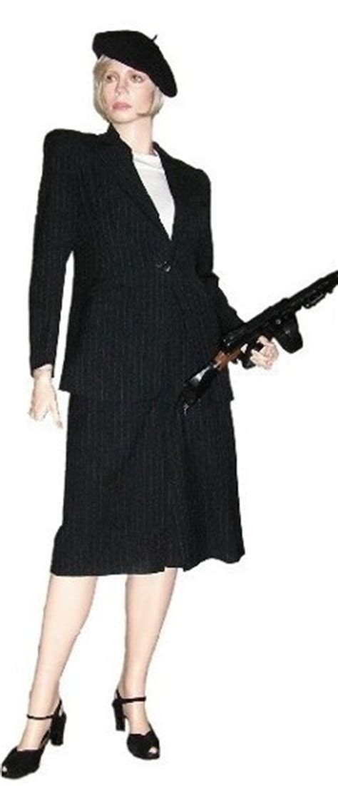 Nextday Sleeve gangster moll costumes
