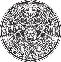 aztec coloring pages free coloring pages of aztec calendar
