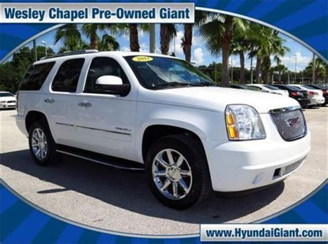 blvd gmc sell used 2013 gmc yukon denali in 27000 wesley chapel
