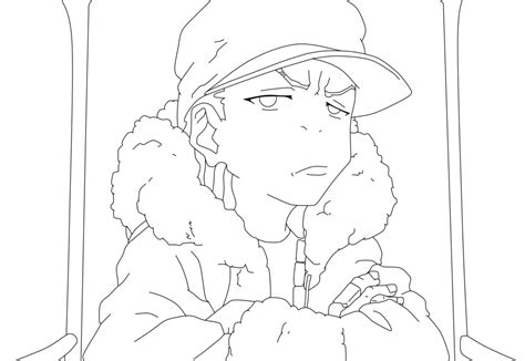 sketch from the boondocks riley coloring pages