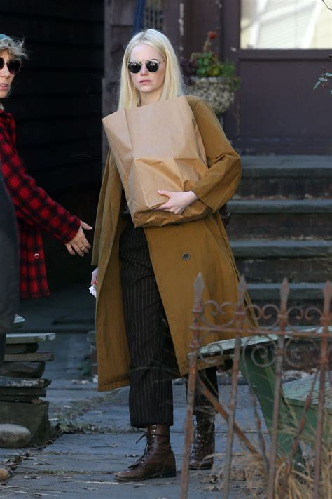 emma stone on the set of the new tv show maniac in emma stone on the set of maniac in new york city celebzz