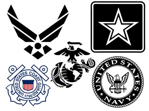 military armed forces logo military logos vector army navy air force marines