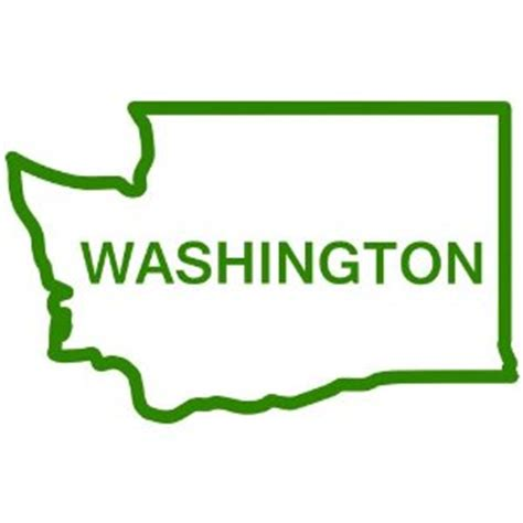 Green Mba Washingston State by Washington State Outline Clipart Clipart Suggest