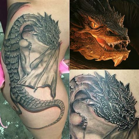 smaug tattoo 25 best ideas about smaug on