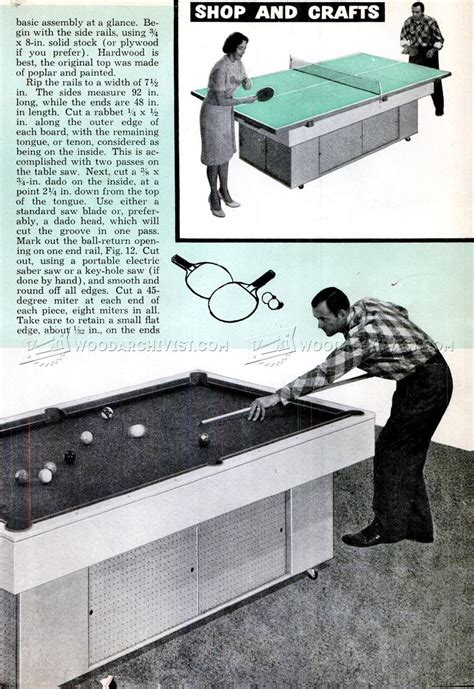 pool table woodworking diy pool table woodarchivist