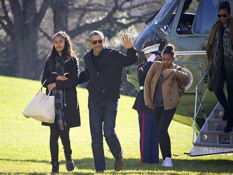 family obama obama family return from vacation