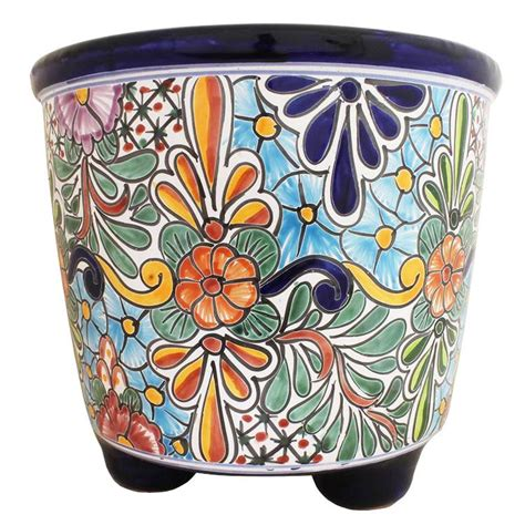 Mexican Planters Large by Talavera Planters Collection Talavera Planter Tp090