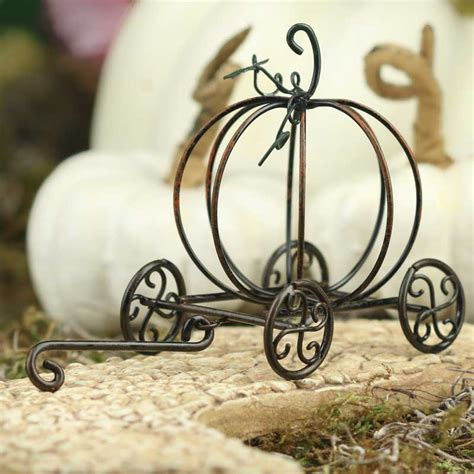 pumpkin carriage miniature pumpkin carriage autumn fall harvest weddings with a theme wedding supplies