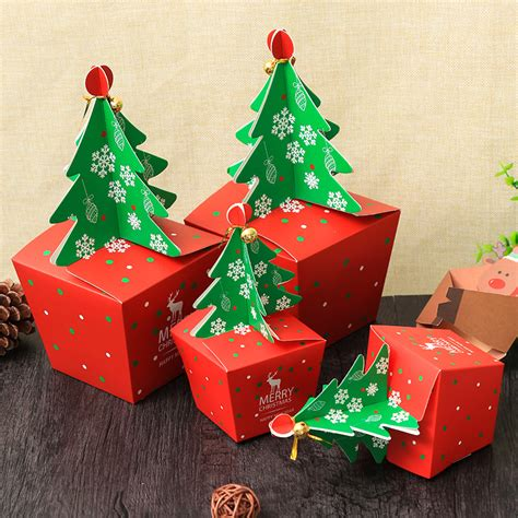 christmas pattern box christmas 2017 paper gift box candy box fit wedding party