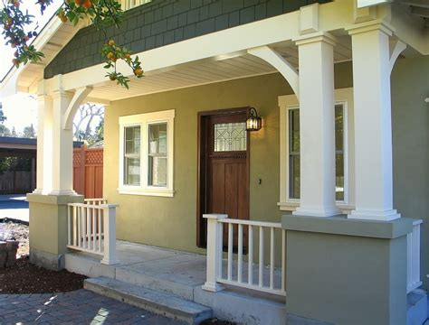 Front Porch Corbels Madson Design Project Gallery New Bungalow Menlo Park Ca