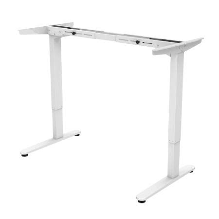 Electric Adjustable Desk Legs by Shop For Flexispot 48 Quot Electric Height Adjustable Desk Frame Only Two Section Legs White At The
