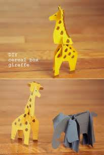 Diy cereal box animal printables fun recycled craft for kids