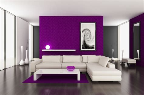 painting an accent wall in living room purple color accent wall living room design the interior