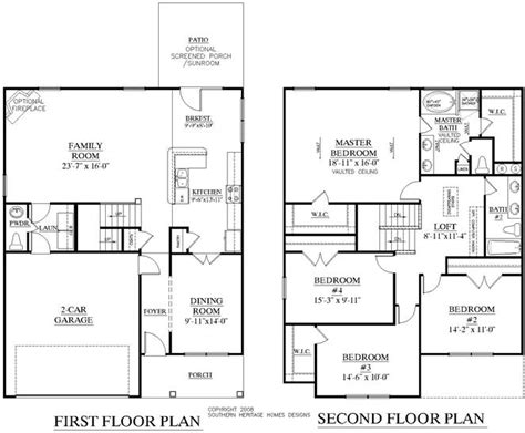 southern heritage home designs house plan 2353 a the