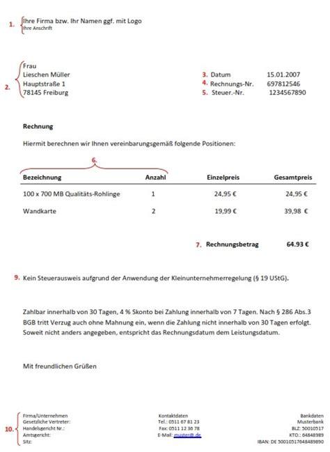 Rechnungskorrektur Muster 2013 steuerberater tipp wie schreibe ich meine rechnungen