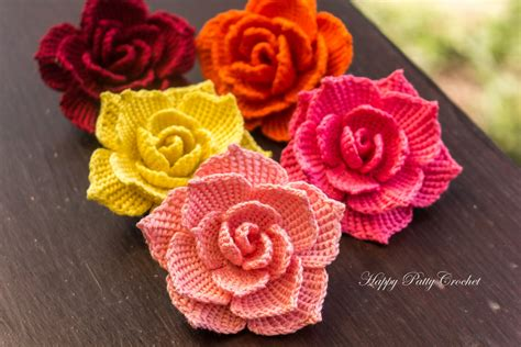 free patterns and on flower hair crochet rose flower applique by happy patty crochet