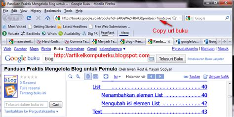cara membaca ebook format jar cara download ebook di google buku menggunakan google book