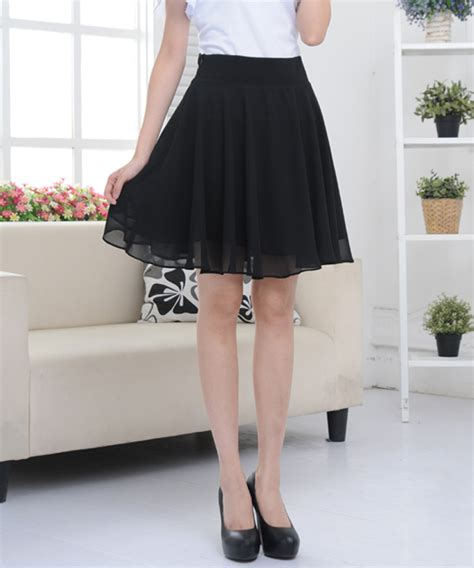 2017 summer skirt side zipper casual midi