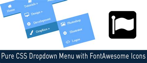 css tutorial little web hut pure css dropdown menu with fontawesome icons