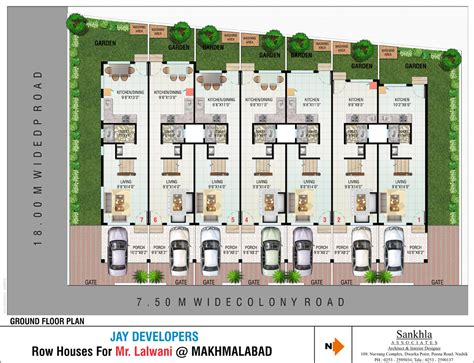 row home floor plans vijay darshan row houses in makhmalabad road nashik buy sale row house