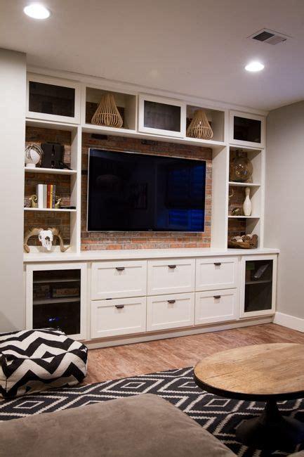 built  entertainment center basement ideas basement