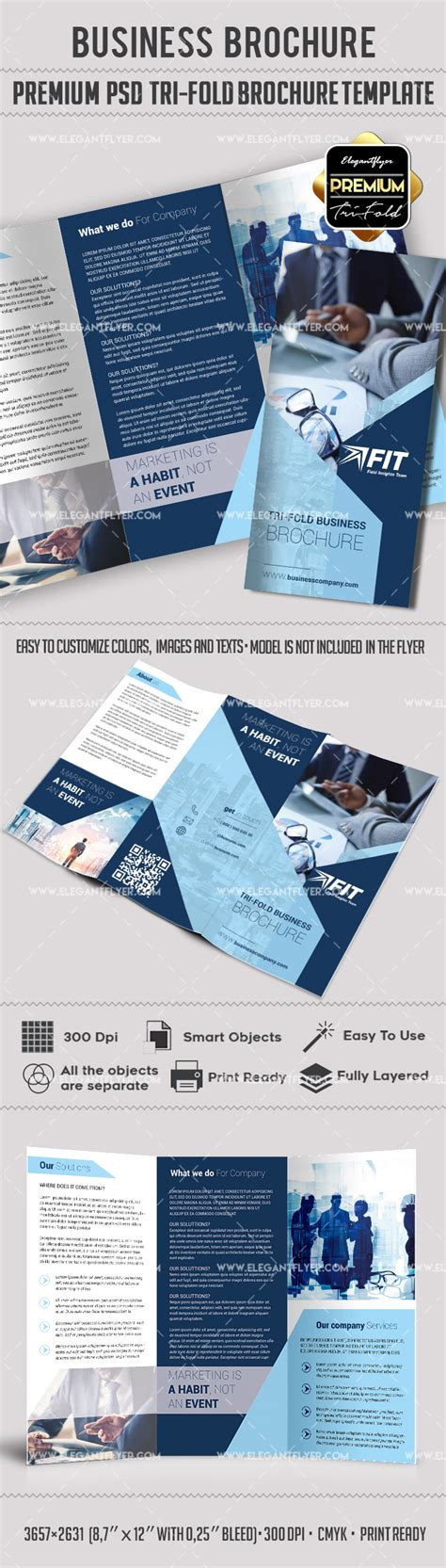 photoshop brochure templates free photoshop brochure template by elegantflyer