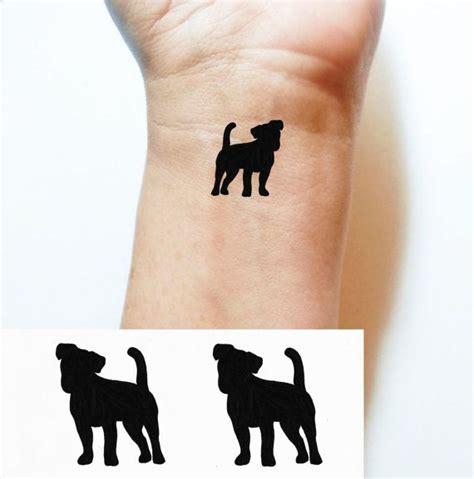 jack russell tattoo designs temporary black terrier par