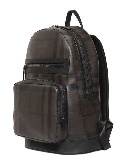Camouflage Faux Leather Backpack burberry check printed faux leather backpack in black for