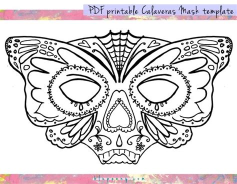 printable masks for day of the dead homemade craft connection day of the dead calaveras