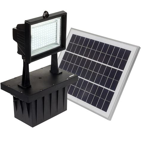 nature power 160 degree black motion sensing outdoor solar