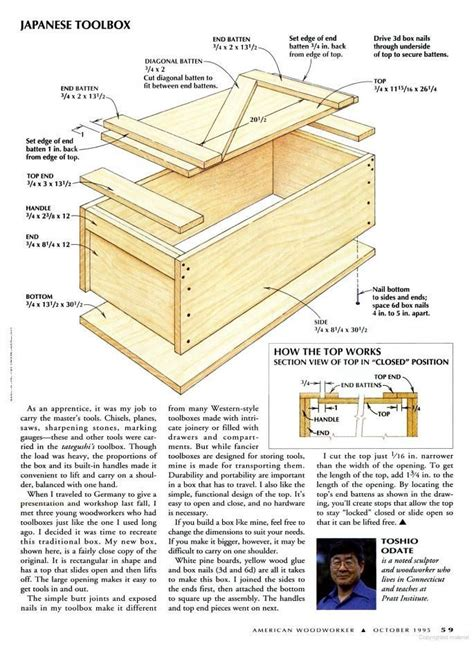 japanese woodworking plans japanese woodworker tool box woodworking projects