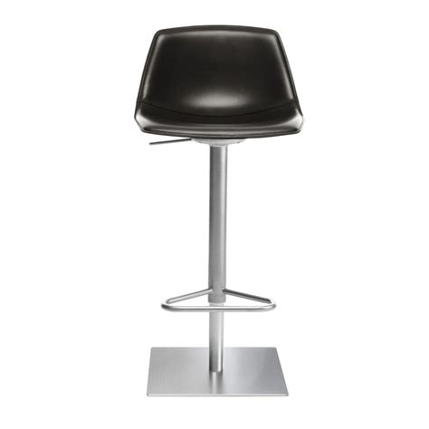 La Palma Miunn Bar Stool by Miunn Bar Stool Stainless Steel Frame Square La Palma