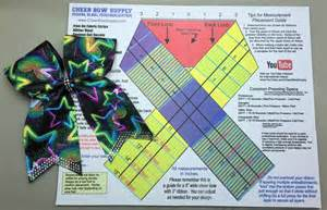 Bow Maker Template by The Easy Way To Make A Cheer Bow