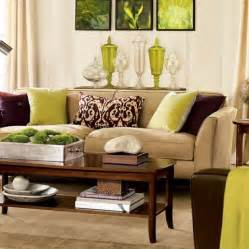 Brown Livingroom by Green And Brown Living Room Decor Interior Design