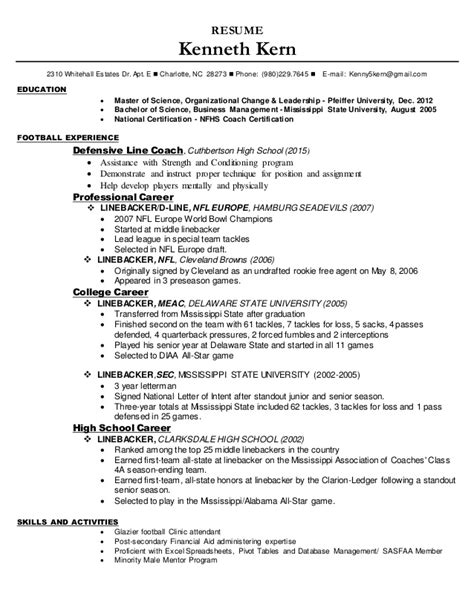 Football Equipment Manager Sle Resume by Football Resume