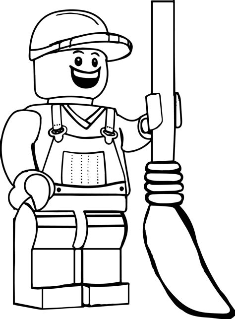 garbage guy lego coloring page wecoloringpage