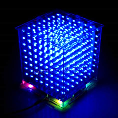 3d light show aliexpress com buy hot led electronic diy kit 3d 8 light