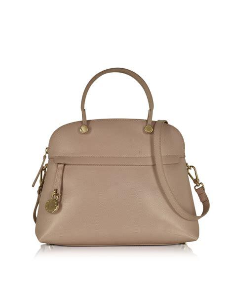 Furla Metro Shouldet furla piper new caramello leather medium dome handbag in metallic lyst