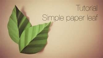 Paper Leaf Template by Tutorial Simple Paper Leaf