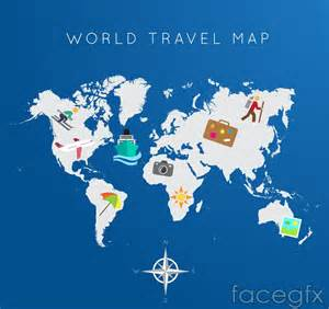 map of the world travel travel around the world map vector free