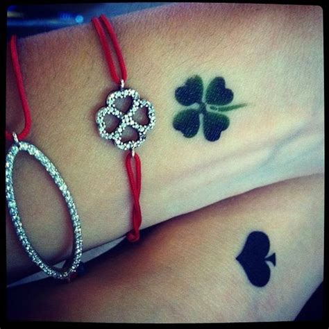 four leaf clover wrist tattoos 43 awesome leaves wrist tattoos