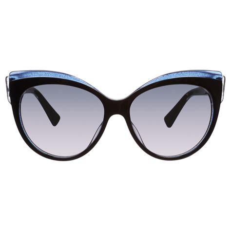 lyst glisten 1 cat s eye plastic frame sunglasses in black