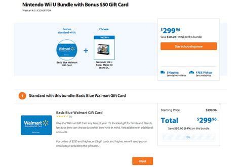 Wii Console At Walmart With 50 Gift Card - games apps nintendo wii u mario 3d world bundle w 50 walmart gc 300 playstation