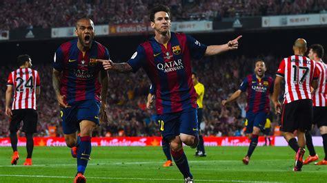barcelona goal lionel messi scores brilliant barcelona goal in copa del