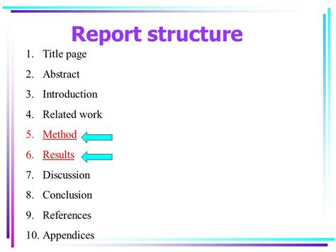 structure and layout of research report business and management research ppt video online download
