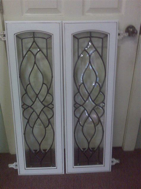 leaded glass cabinet doors white leaded glass cabinet sobo