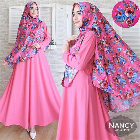 Baju Gamis Syar I Set Khimar Maxmara Calysta baju gamis misbee nancy syar i motif bunga maxmara cantik