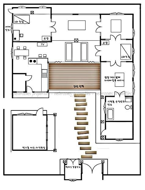 traditional korean house design quot sang go jae quot modern traditional korean house ej floor plan pinterest